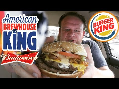 BURGER KING ☆AMERICAN BREWHOUSE KING™☆ AKA The Swill Whopper FOOD REVIEW!!!