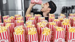 How many Bags of Popcorn can I Eat?  *super salty* thumbnail