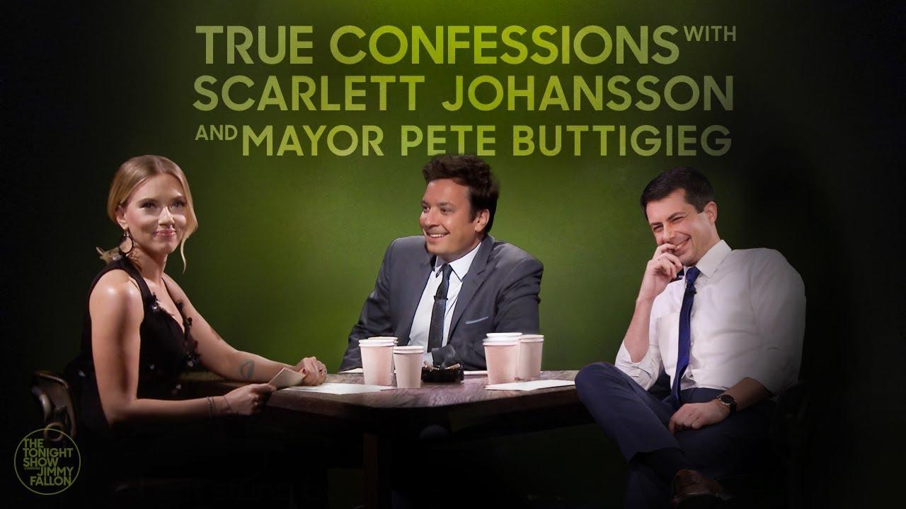 True Confessions with Scarlett Johansson and Mayor Pete Buttigieg thumbnail