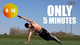"5 Minute ""On The Floor"" Core In Home Workout by Onlykinds Fitness [5 Minute Workouts]"