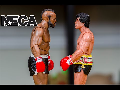 NECA Rocky Balboa & Clubber Lang 40th Anniversary Review!