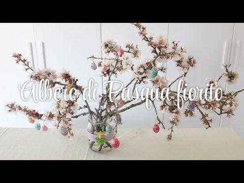 Albero di Pasqua fiorito - idea decorazioni tutorial pasqua fai da te shabby chic