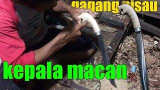 Inilah Pisau Dari Bearing/klaher | Gagang Kepala Macan Part1 #seniIndonesia #golokIndonesia