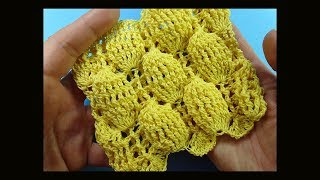 Рельефный узор вязания крючком   Crochet pattern 106