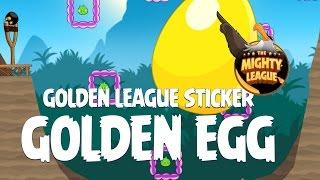 Secret Angry Birds Golden League Sticker Golden Egg - Bird Island Update