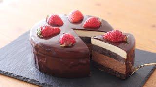 チョコレート・ムースケーキの作り方 Chocolate Mousse Cake|HidaMari Cooking