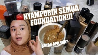 DEMPUL ABIS!!! NYAMPURIN SEMUA FOUNDATION BIYA!!! Video thumbnail