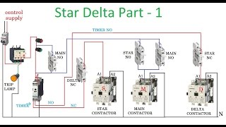 Star delta connection for induction motor why star delta starter star delta starter motor control with circuit diagram in hindi part 1 swarovskicordoba Gallery