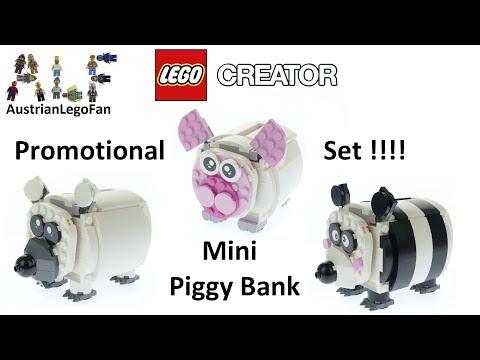 Vidéo LEGO Creator 40251 : Mini-Tirelire Cochon