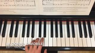 ABRSM Grade 1 - La Donna é Mobile (slowly) - Left hand