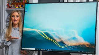 I have a 50in Surface Hub 2S in my living room!!! Unboxing and first impressions!
