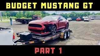 Wrecked Budget Mustang GT Build Part 1