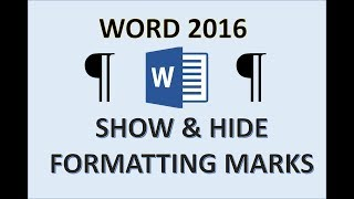 Word 2016 - Formatting Marks - How to Show Hide Remove Paragraph Symbol - Citation Mark Symbols MS