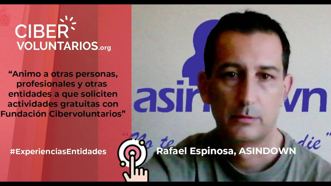 Rafa Espinosa de Asindown anima a otras entidades a realizar actividades con Cibervoluntarios