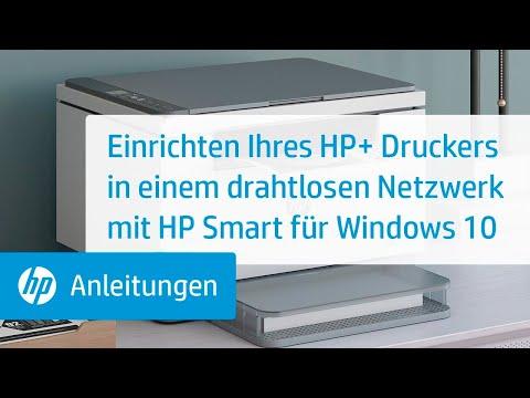 Einrichten Ihres HP+ Druckers in einem drahtlosen Netzwerk mit HP Smart für Windows 10 | HP Smart