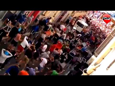 Hooligans English vs Russian in Euro 2016 ( Battle of Marseille )