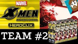 Heroclix X-men Xavier's School Unboxing and Team Building - Day 2!