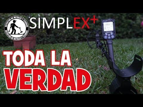 Detector de metales Simplex en español, Ideal para buscar tesoros Colombia