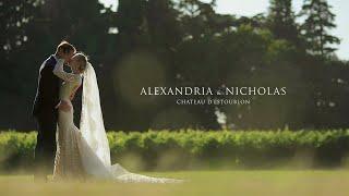 Alexandria and Nicholas | Wedding trailer video | Château d'Estoublon, Provence