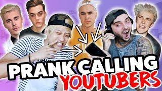 PRANK CALLING PEOPLE BUT WE CAN'T HEAR THEM (Justin Bieber, Grayson, Jake Paul, Banks, Kian & Jc)