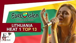 Eurovision Lithuania 2018 [1st HEAT] - My Top 13 [With RATING]