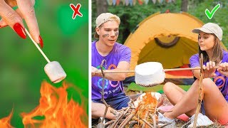 12 Weird Ways To Sneak Candies Into School Camp / Camping Pranks And Games!
