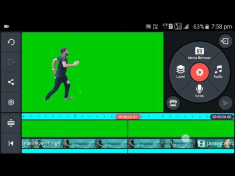 How To Convert Videos Background In Green Screen On Android Using Kinemaster Full Tutorial