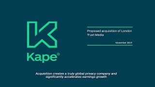 kape-technologies-kape-proposed-acquisition-of-private-internet-access-19-11-2019