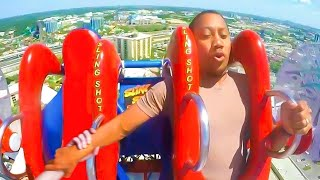 his girlfriend fell off the roller coaster..