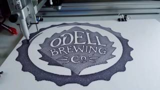 AxiDraw 3 - ODell Brewing Logo (Machine Noise ASMR)