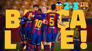 A SUFFERED VICTORY 😬 ⚽ BARÇA LIVE | VALENCIA 2 - BARÇA 3 from Mestalla | Warm up & Match Center