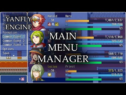 how do i add options to the menu? :: RPG Maker MV General Discussions