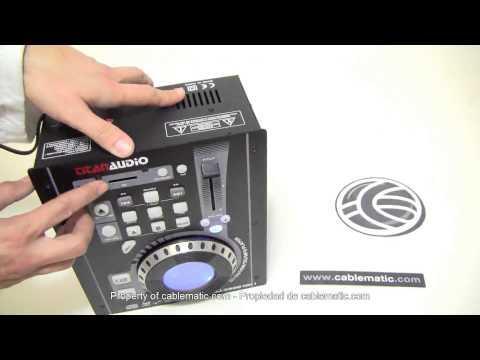 Reproductor CD MP3 USB SD compacto DJ modelo TDJ350S distribuido por CABLEMATIC ®