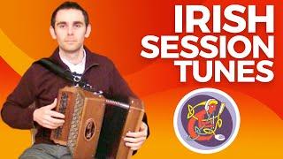 Irish Button Accordion Lesson [The Ballydesmond Polka] Beginner Tune