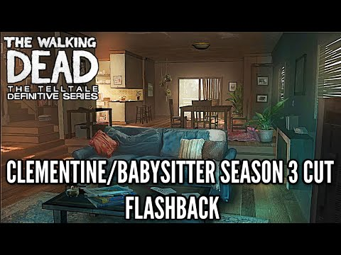 Clementine's HOUSE CUT FLASHBACK  - The Walking Dead: Definitive Edition