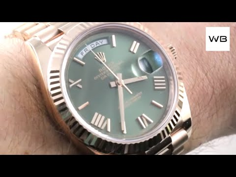 Rolex Day Date 40 GREEN DIAL / ROSE GOLD 228235 Luxury Watch Review