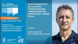 Youtube: Plenaria di Apertura | Nuove prospettive della Digital Transformation. L'innovazione per comunicare il Brand Italia | Forum Comunicazione 2021
