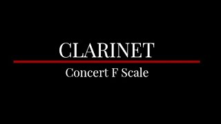 Clarinet  (Concert F Scale)