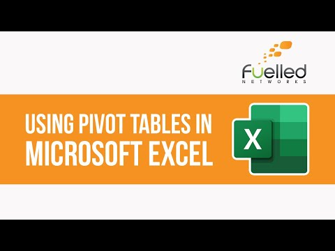 Microsoft Excel Training In Ottawa | Microsoft Excel Pivot Tables