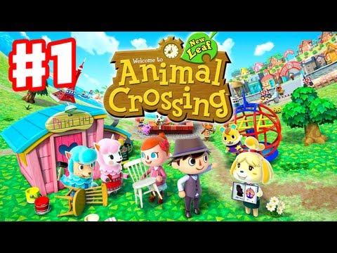 Animal Crossing: New Leaf - Gameplay Walkthrough Part 1 - Day 1 - I'm the New Mayor! (Nintendo 3DS)