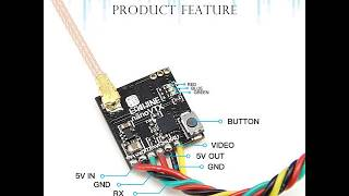Eachine NANO VTX 5.8GHz 48CH 25/100/200/400mW Switchable FPV Transmitter Support OSD/Pitmode/IRC Tra