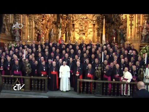 Le Pape François est accueilli par les évêques du Mexique