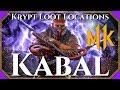 MK11 Krypt Kabal Loot Locations - Guaranteed for Kabal!