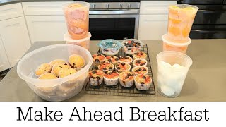 MAKE AHEAD BREAKFAST FOR THE WEEK / COOK & PREPARE WITH ME