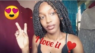 Braiding My Hair Using Natural Twist + Short Intro| Protective Hairstyle Pt2