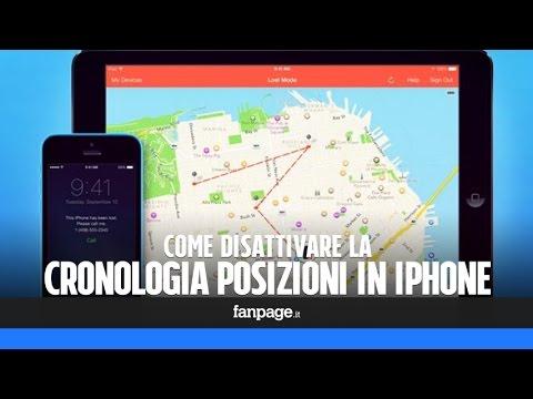 Visualizzare (e disattivare) la cronologia posizioni in iPhone e iPad
