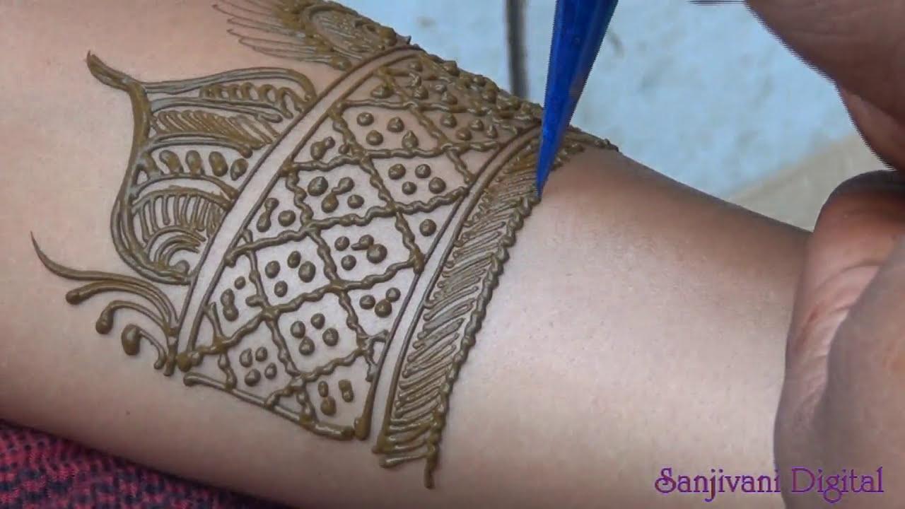 easy fillers for full hand mehndi design tutorial by sanjivani lifestyle