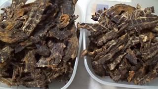 Сушим мясо для похода / Вяленая говядина / Jerky recipe