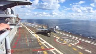 Su-33 & MiG-29K Touch-&-Go On Vikramaditya