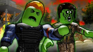 They Turned Into Zombies! A Sad Roblox Zombie Outbreak Movie